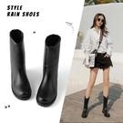 雨鞋女士時尚款外穿中高筒靴子韓版潮流套鞋膠鞋水鞋防水防滑雨靴 初色家居館