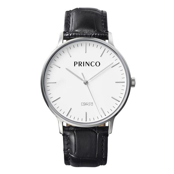 PRINCO 時尚經典一卡通速PAY石英錶-40mm白底銀邊(快拆皮革錶帶)(MD0198S)