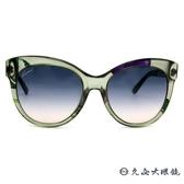 GUCCI 墨鏡 GG3760FS 2F1I4 (透綠-銀) 貓眼大框 太陽眼鏡 久必大眼鏡