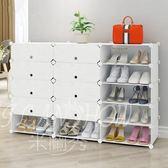 簡易鞋架 現代簡約塑料經濟型家用防塵仿實木樹脂多層組裝鞋櫃
