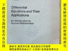 二手書博民逛書店differential罕見equations and their applications(P2248)Y1