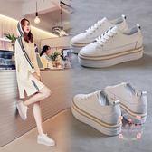 內增高鞋 小白鞋百搭韓版厚底松糕鞋休閒鞋