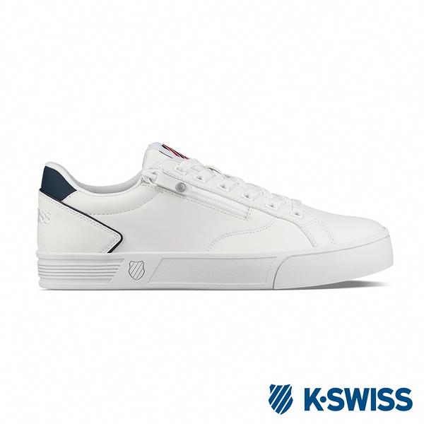 K-SWISS Court Lite Zipper S休閒運動鞋-男-白