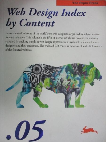 【書寶二手書T2/網路_E2D】Web Design Index by Content .05_Various