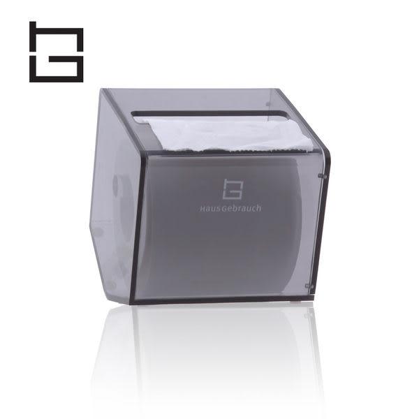 【HG】創意壓克力五角捲筒紙巾盒(灰) (現貨+預購)