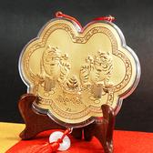 神明金牌-如意金虎爺項鍊-15cm(0.12錢)-酬神 謝神金牌