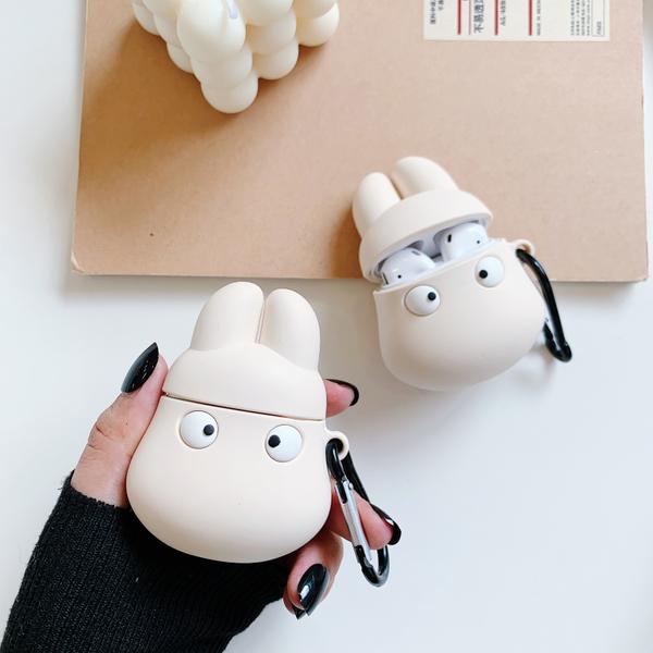 即將現貨 台灣發貨🍎 Airpods2 藍芽耳機保護套 蘋果無線耳機保護套 白色小龍貓