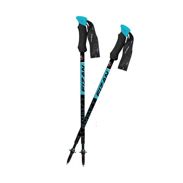 Fizan 超輕三節式健行登山杖 藍/藍 單隻