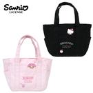 【日本正版】三麗鷗 帆布手提袋 便當袋 午餐袋 凱蒂貓 美樂蒂 Hello Kitty My Melody 577004 577011