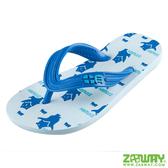 人字拖-藍色 童鞋 台灣黑熊沙灘拖 親膚夾腳拖