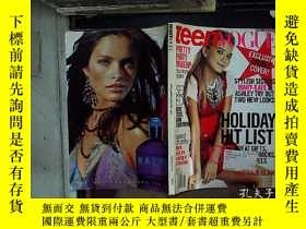 二手書博民逛書店teenvogue罕見2007 december january