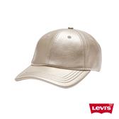 Levis 男女同款 可調式環釦棒球帽 金屬質感