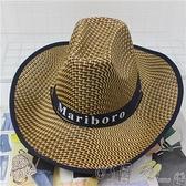 釣魚騎車男士牛仔帽度假夏沙灘大沿帽子女太陽防曬帽子男遮陽草帽 新年特惠