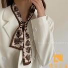 韓國小領巾虎頭斑馬紋絲巾時尚飄帶真絲發帶女【慢客生活】