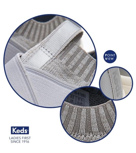 Keds 女鞋 Studio 完美包覆輕量休閒鞋-淺灰 83W132551