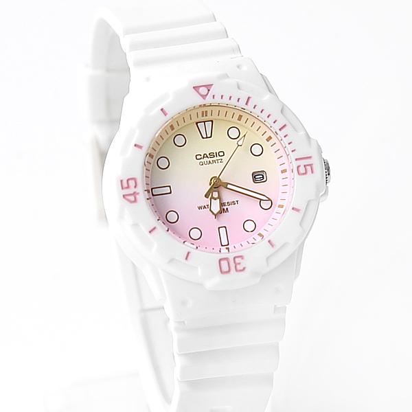 CASIO卡西歐 黃粉雙色漸層休閒運動腕錶 浪漫手錶有型【NEC43】