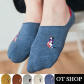 [現貨] 隱形襪 襪子 船型襪 短襪 可愛貓咪刺繡 女生配件 配件 純棉 M1005