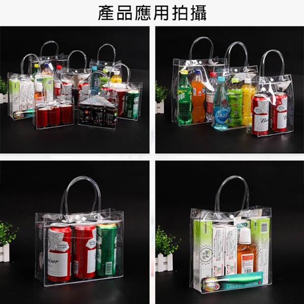 透明PVC袋(橫式1號袋) 飲料袋 多款尺碼 客製化 LOGO 購物袋 廣告袋 網紅提袋【塔克】