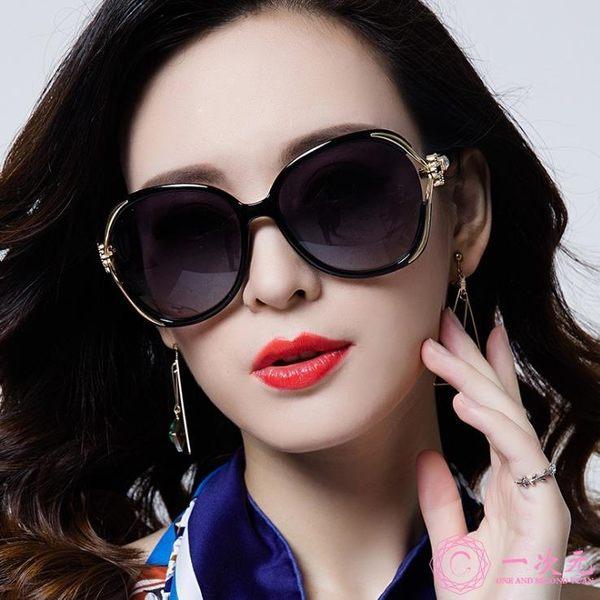 2019新款女士太陽鏡 歐美華麗大框太陽眼鏡 金屬玫瑰花朵墨鏡