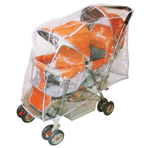 【奇買親子購物網】YIP-baby 開窗型雙人推車專用防風雨罩