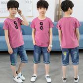 童裝男童短袖套裝兒童夏季新品新款正韓兩件套中大童洋氣夏裝潮衣『新佰數位屋』