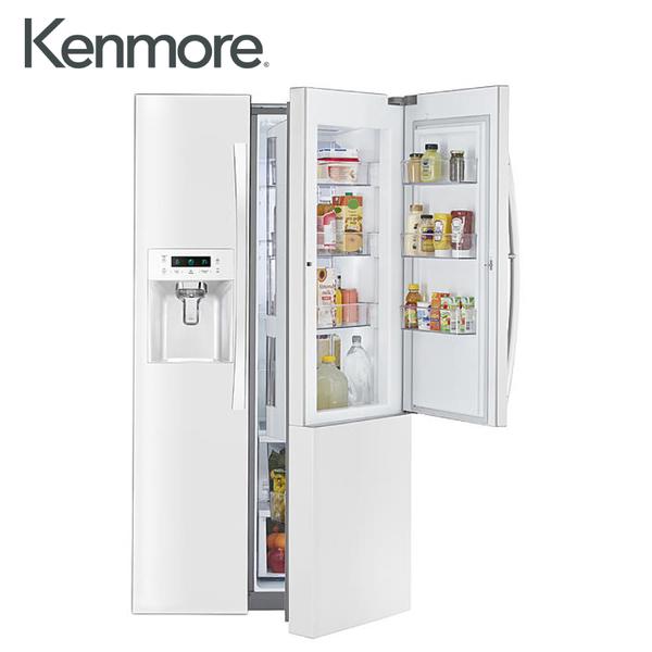 [Kenmore 楷模]702公升 對開門冰箱門外取冰取水口-白色 51862