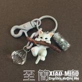 小貓鑰匙扣女貓咪公仔韓國可愛創意汽車鑰匙鏈包包掛飾書包掛件 至簡元素
