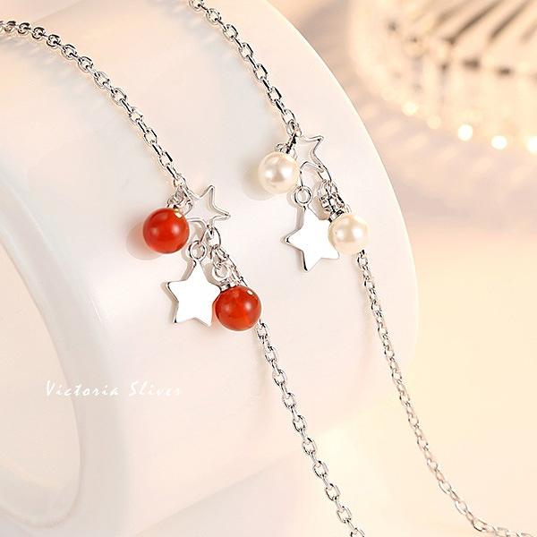S925銀  優雅的名媛日星珍珠手鍊-維多利亞180818