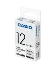 CASIO 標籤機專用色帶-12mm【透明底黑字XR-12X1】