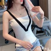 針織小吊帶背心 女修身性感上衣外穿內搭顯胸潮夏港味 BT12164【大尺碼女王】
