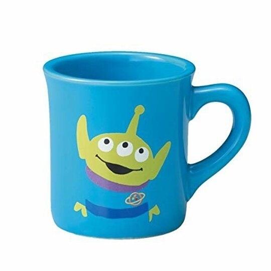 小禮堂 迪士尼 三眼怪 陶瓷馬克杯 咖啡杯 陶瓷杯 290ml (藍 站姿) 4959079-28974