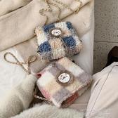 毛絨包包-冬季法國小眾包包女包新款羊羔毛毛絨斜挎包女百搭ins小巧包 喵喵物語