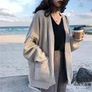 針織開衫毛衣外套女秋冬加厚寬鬆衣服女【時尚大衣櫥】