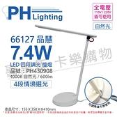 PHILIPS飛利浦 LED 品慧 66127 7.4W 4000K 自然光 全電壓 四段可調光 檯燈 _ PH430908
