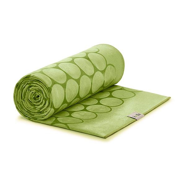 Agoy 瑜珈鋪巾 壁虎鋪巾3.0 (圈圈款) - 抹茶綠 (送防水收納袋)