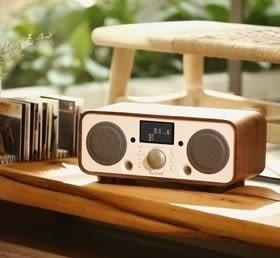 【結帳再折+24期0利率】Auluxe New Breeze 收音機/鬧鈴 NFC/藍牙/USB揚聲器 2.1聲道 天然木質音箱