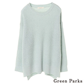 「Hot item」側開衩寬版針織上衣 - Green Parks