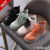 女童馬丁靴2020秋冬季女孩單靴韓版百搭兒童白色短靴英倫風軟底潮 聖誕節免運