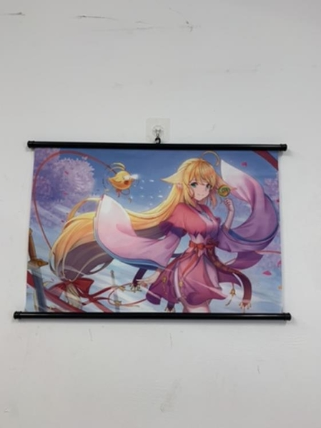 多功能掛布背景裝飾狐妖小紅娘人物海報掛畫(63*40/@777-3510)
