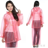 韓版時尚水晶雨衣成人戶外徒步騎行全身防水雨披套裝加厚 ZB309『美好時光』