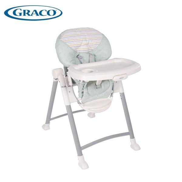 GRACO Contempo 可調式高低餐椅- 條紋綠