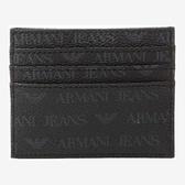 A/X 阿瑪尼圖案印刷黑色信用卡夾