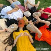 白色情侶純色純棉短袖t恤女竹節棉學生上衣閨蜜姐妹裝     琉璃美衣