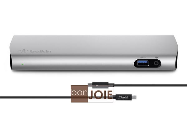 ::bonJOIE:: 美國進口 Belkin Thunderbolt 2 Express Dock HD 擴充底座 (全新盒裝) 含原廠 Thunderbolt 線