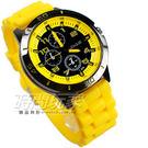 SENJUE 流行潮個性 三眼造型 數字休閒 男錶 學生錶 兒童手錶 S826黃