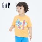 Gap男幼童 Gap x Disney 迪士尼系列純棉短袖T恤 698008-橙色