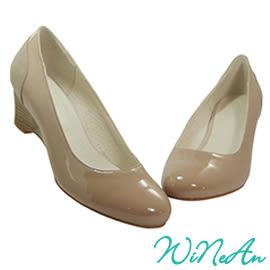 WINEAN薇妮安-優雅5cm船型、楔型鞋(裸膚色)-WNA-15989
