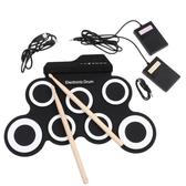 手卷USB電子鼓 便攜式架子鼓 練習鼓 折疊硅膠手卷電子鼓 爵士鼓
