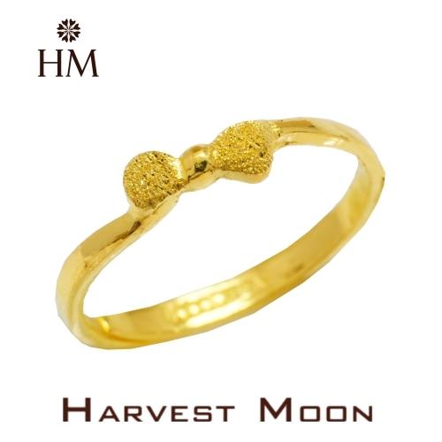 Harvest Moon 富家精品 黃金尾戒 小蝴蝶結 9999 純金金飾 女尾戒子 黃金戒指 可調式戒圍 GR03854