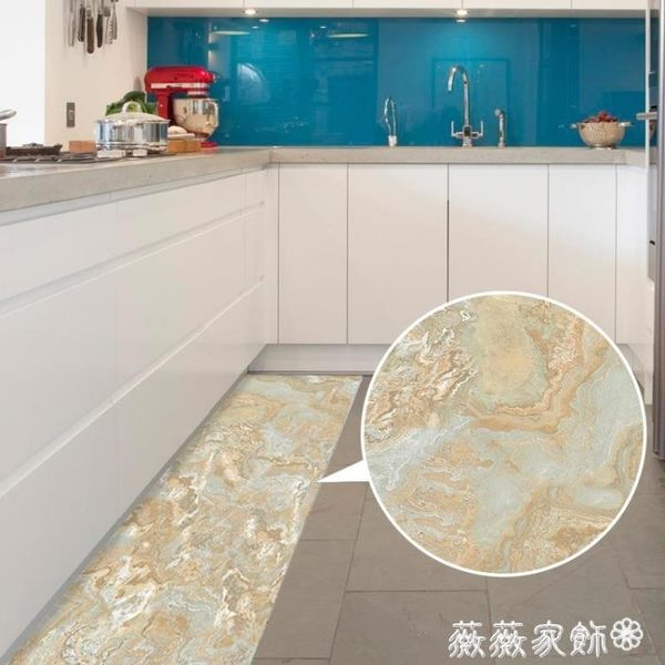 地貼 復古3d立體地貼裝飾廚房防水防油地板貼客廳浴室門口防滑地貼紙 igo薇薇家飾